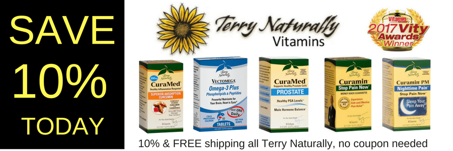Save 10% today at netnutri.com for Terry Naturally products!
