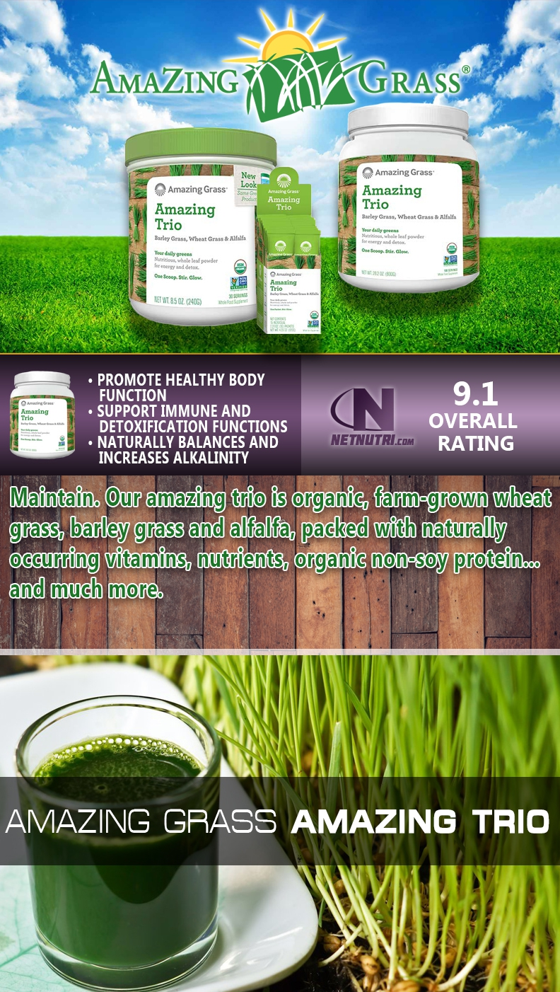 Amazing Grass Amazing Trio sale at netnutri.com