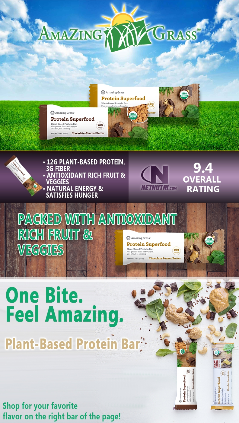 Amazing Grass Protein SuperFood Bars for sale at Netnutri.com