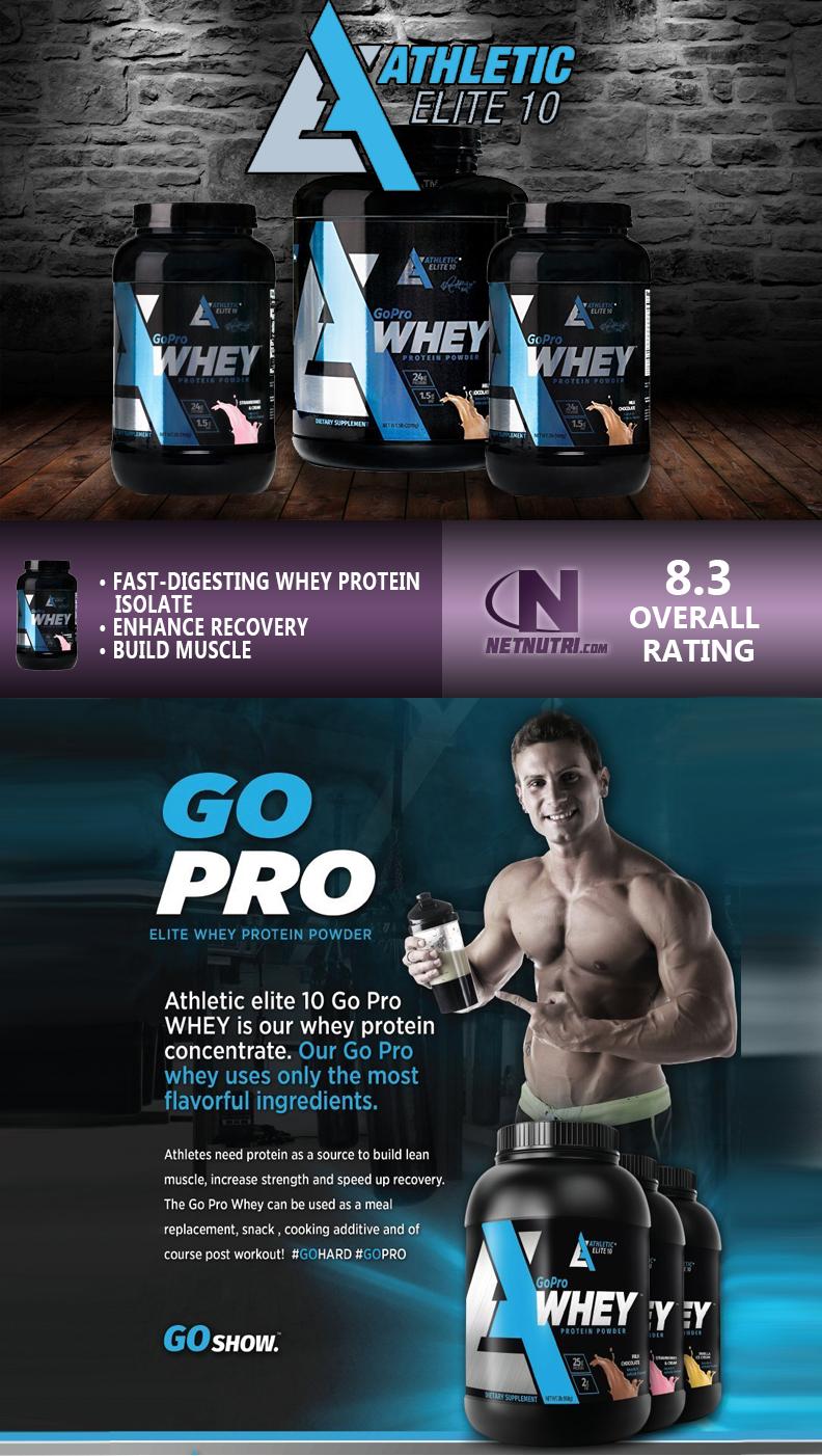 Athletic Elite 10 GoPro Whey Protein Powder sale at Netnutri.com