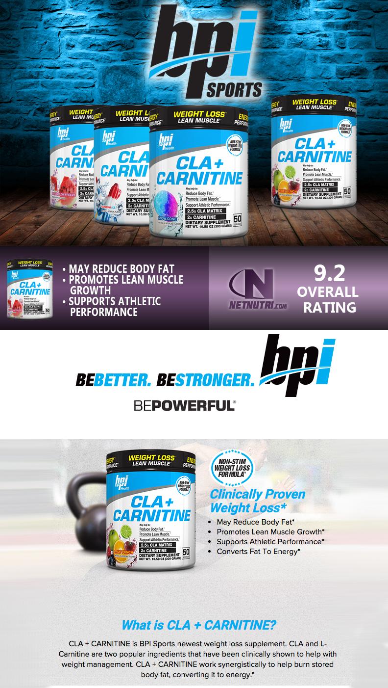 BPI CLA and Carnitine sale at Netnutri.com