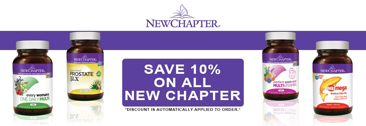 New Chapter 10% Off