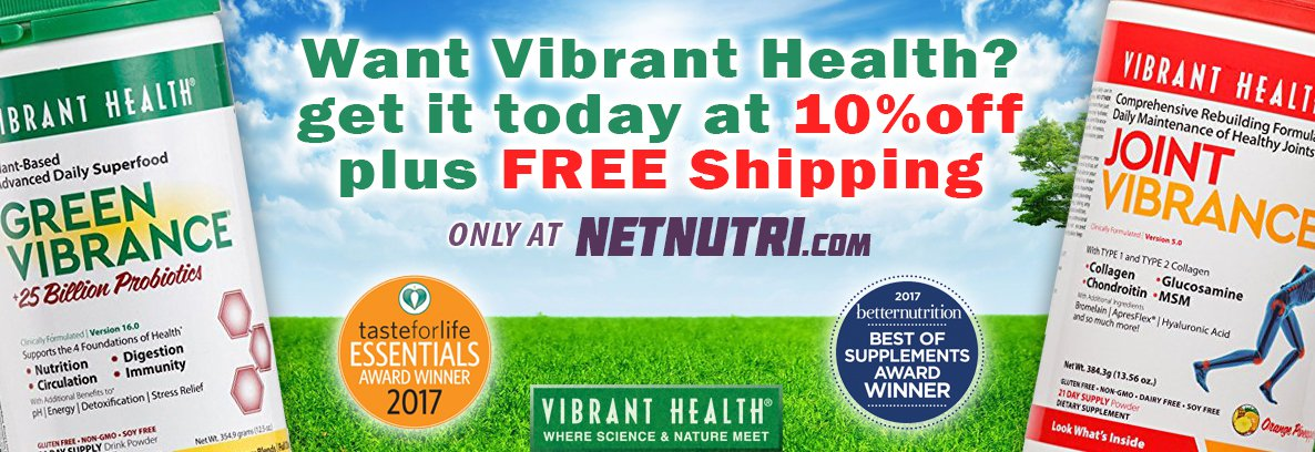 Receive 10% and Free Shipping on All Vibrant Health