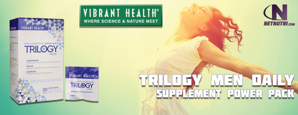 Vibrant Health Trilogy Men Daily Supplement Power Pack