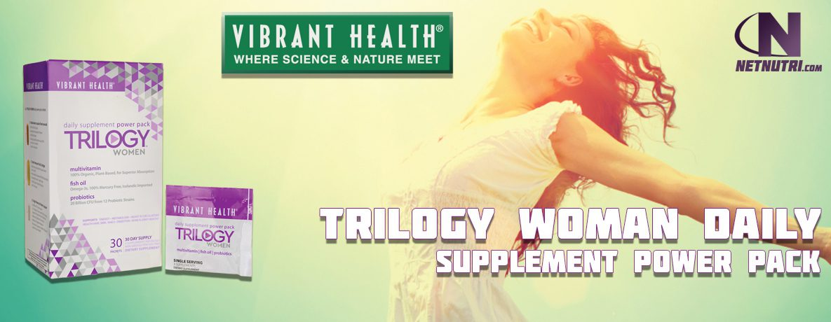 Vibrant Health Trilogy Woman Daily Supplement Power Pack