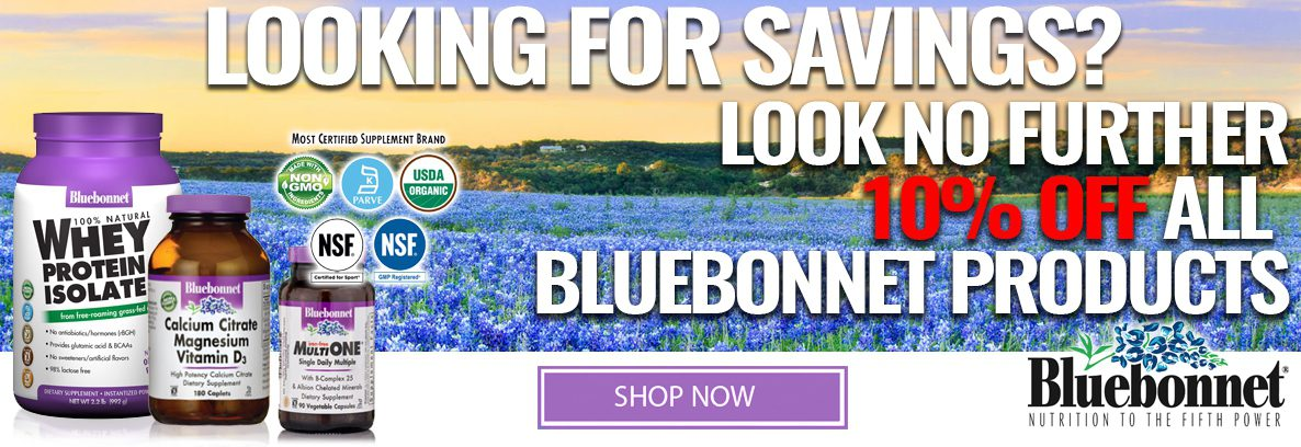 Save 10% off all Bluebonnet Products