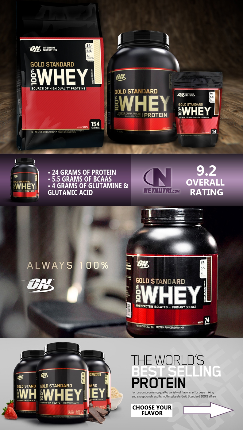whey gold standard at netnutri.com