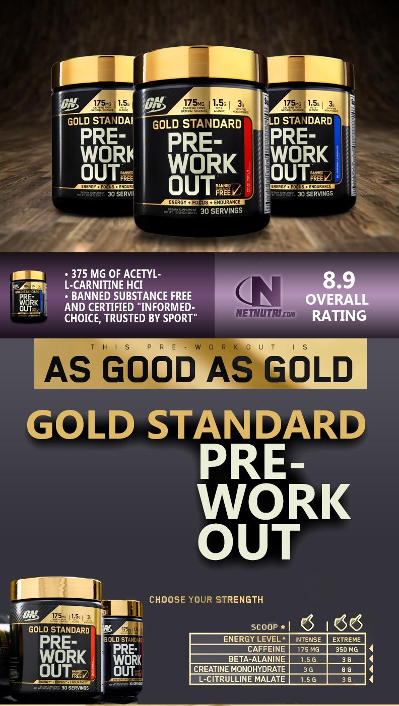Gold Standard Pre Workout Sale at Netnutri.com