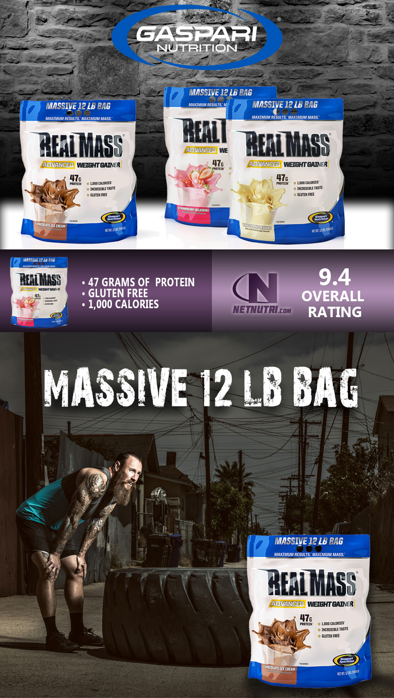 Gaspari Real Mass sale at netnutri.com