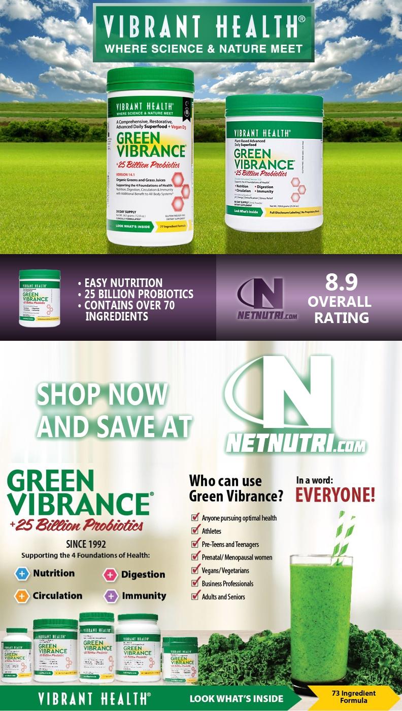 Vibrant Health Green Vibrance Sale at Netnutri.com