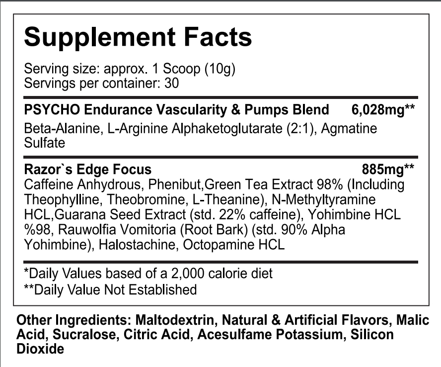 SUP FACTS Edge Of Insanity Supplement