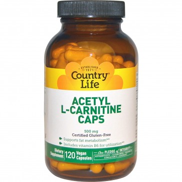 Country Life Acetyl L-Carnitine 120 Vegan Capsules