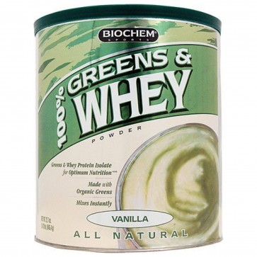 Biochem 100% Greens and Whey Protein Powder Vanilla 22.7 oz