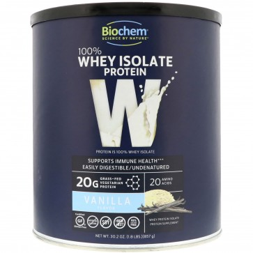Biochem 100% Whey Protein, Vanilla 30.2 oz (857 grams)