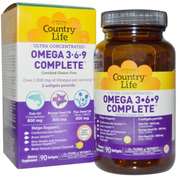 Country Life Omega 369 90 Softgels