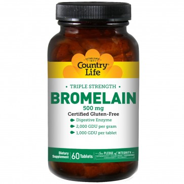 Country life Bromelain Triple Strength Enzymes 500 mg. 60 Tablets