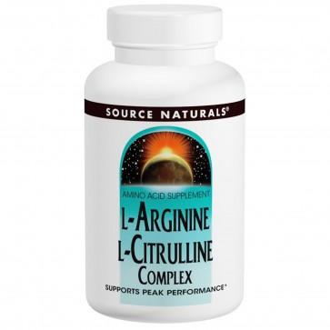 Source Naturals L-Arginine L-Citrulline Complex 120 Tablets