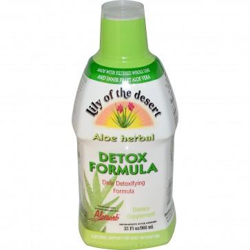 Lily Of The Desert Aloe Vera Juice Organic Herbal Detoxifying Formula 32 oz.