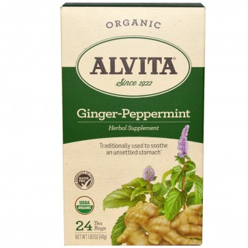 Alvita-Ginger-Peppermint Tea Bags 24 bags