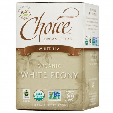 Choice Organic Teas White Peony 16 Tea Bags