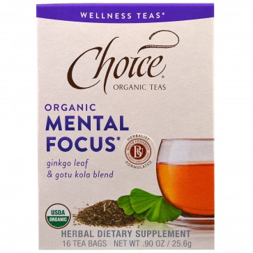 Choice Organic Teas Mental Focus 16 tags bags