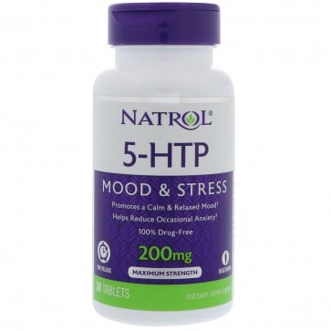 Natrol 5-HTP TR Time Release 200 mg 30 Tablets
