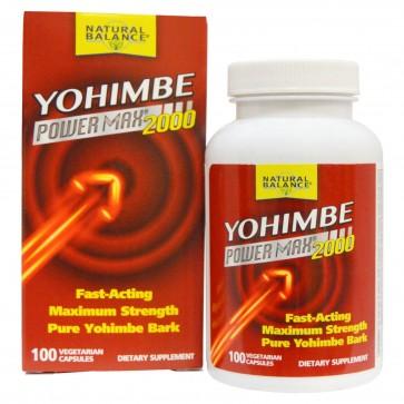 Natural Balance Yohimbe Power Max 2000 100 Veggie Caps