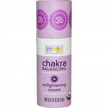 Aura Cacia, Organic Chakra Balancing Aromatherapy Roll-On, Enlightening Crown, 0.31 fl oz (9.2 ml)