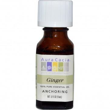 Aura Cacia, 100% Pure Essential Oil, Ginger, .5 fl oz (15 ml)