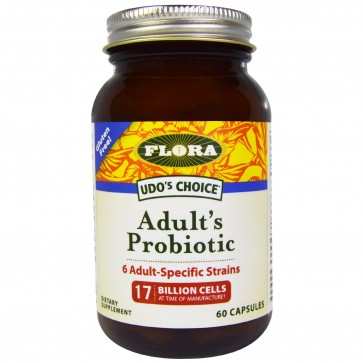 Flora UDO's Choice Adult's Probiotic 17 Billion Cells 60 Capsules
