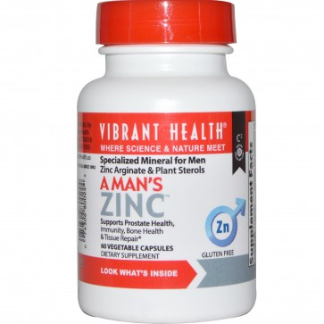 Vibrant Health A Mans Zinc 60 Vegetable Capsules