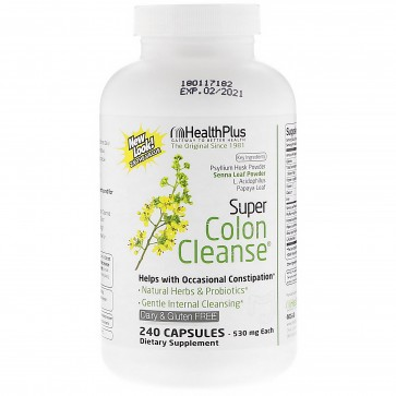 Health Plus Super Colon Cleanse Psyllium 500mg 240 Capsules
