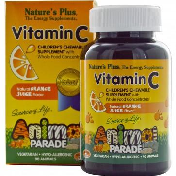 Nature's Plus Animal Parade Vitamin C Orange Juice 90 Chewable Tablets