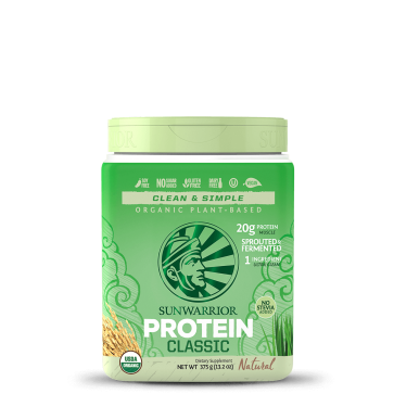 SunWarrior Organic Plant-Based Protein Classic Natural 375g (13.2 oz)
