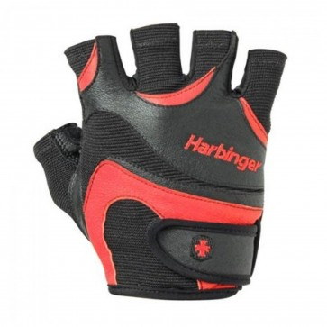 Mens FlexFit Gloves Black and Red