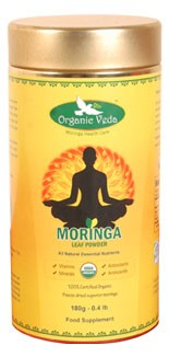 Organic veda Moringa leaf powder 180g