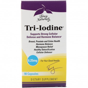 Terry Naturally Tri-Iodine 6.25mg 90 Capsules
