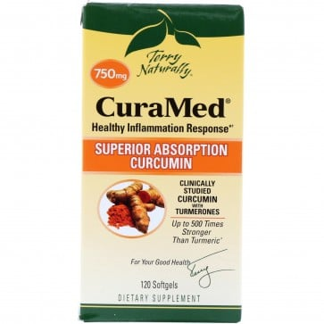 Terry Naturally CuraMed Superior Absorption Curcumin 120 Softgels (750 mg)