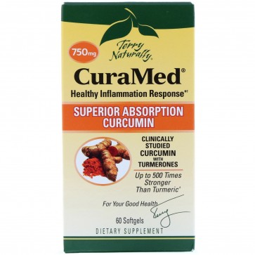 Terry Naturally CuraMed Superior Absorption Curcumin 60 Softgels (750 mg)