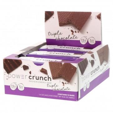 Power Crunch Original Triple Chocolate 12 Protein Bars