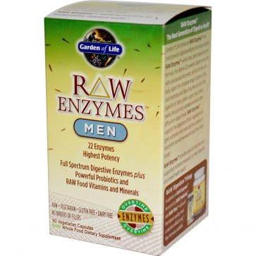 Garden of Life RAW Enzymes Men 90 Vegetarian Capsules
