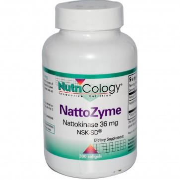 NutriCology NattoZyme Nattokinase 36 mg NSK-SD 300 Softgels