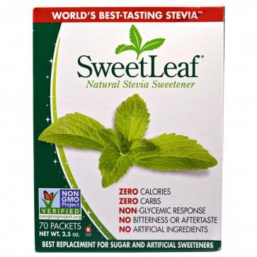 SweetLeaf 100% Natural Stevia Sweetener 70 Packets