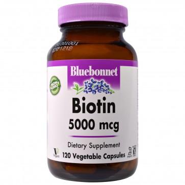 Bluebonnet Biotin 5000 mcg 120 Capsules
