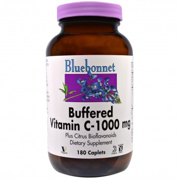 Bluebonnet Buffered Vitamin C 1000 mg 180 Caplets