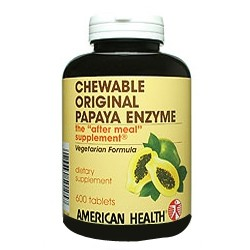 American Health Papaya Enzyme Chloro 600 tablets