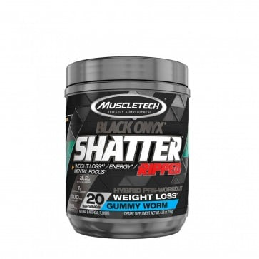 MuscleTech Shatter Ripped Black Onyx Gummy Worm 20 Servings