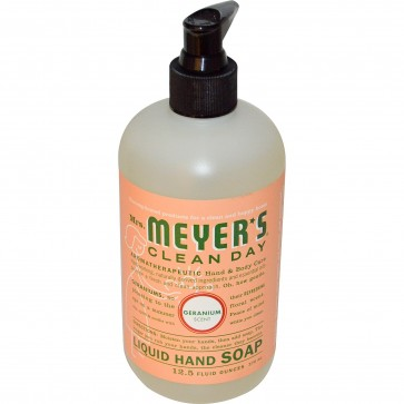 Mrs. Meyers Clean Day Liquid Hand Soap Geranium Scent 12.5 fl oz (370 ml)