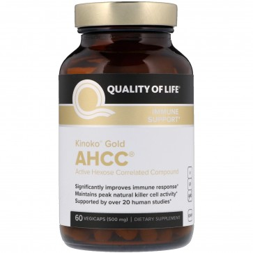 Quality of Life Kinoko Gold AHCC 500mg 60 Caps