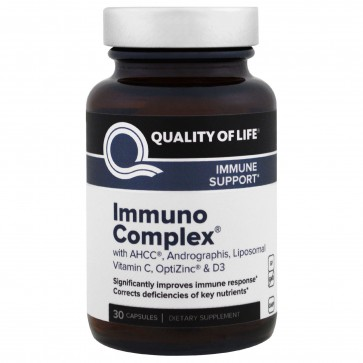 Quality Of Life Immuno Complex Immune Support with AHCC 30 caps